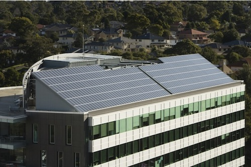 100kW rooftop commercial solar power system in North Ryde Sydney Australia
