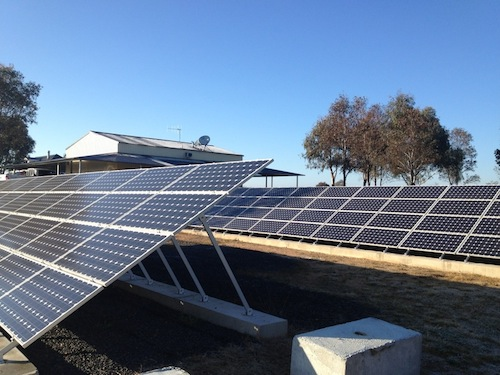 10kW commercial solar farm in western NSW, Australia