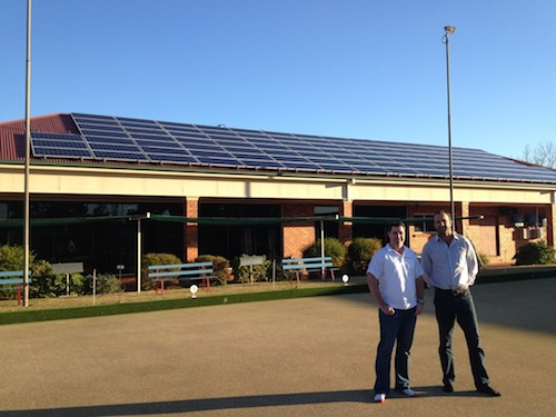 30kW commercial solar power system at Narromine Bowling Club, NSW Australia