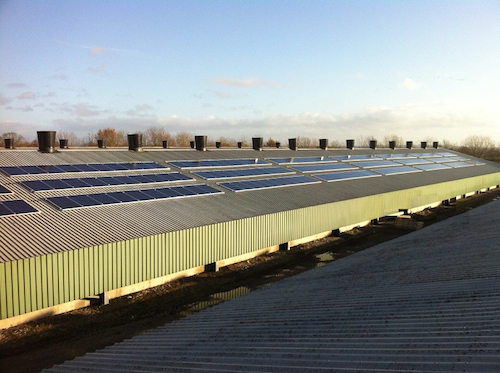 50kWp commercial solar power installations on poultry farms across the UK