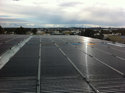 100kW tubular solar power installation on prominent club in Blacktown NSW Australia