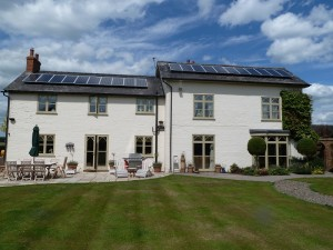 Residential Solar Power Installation, Cheshire